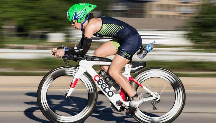 Triathlete on bike portion